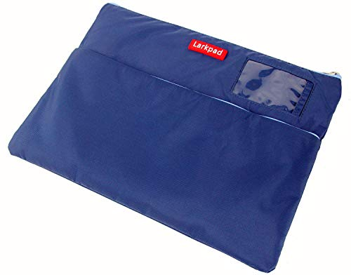 - Larkpad Zipper Bag Storage Pouch-Large Document Pocket with Two Pocket,Water Repellent,Durable Nylon Matrial for Filing Office Supplies Car - Duke Blue