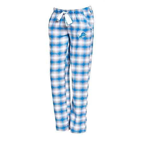 Concepts Sport Detroit Lions Womens Pajamas Flannel Plaid Pajama Pants (Medium) (Detroit Lions Pajamas Mens)