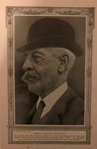 1911 Vintage Magazine Illustration James Gordon Bennett New York Herald