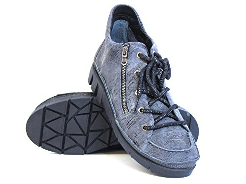 cordones 7 kombi gris grau Softwaves Zapatos 32 con 03 Mujeres wq6nYwgt0