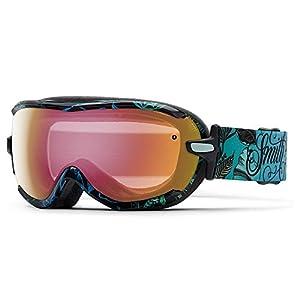 Smith Optics Virtue Women's Spherical Series Snow Snowmobile Goggles Eyewear - Mrs. Eaves/Red Sensor Mirror / Small