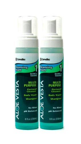 Foam 8 Oz Bottle - Aloe Vesta Cleansing Foam SQB325208 ConvaTec, 8 oz, 2 per Pack