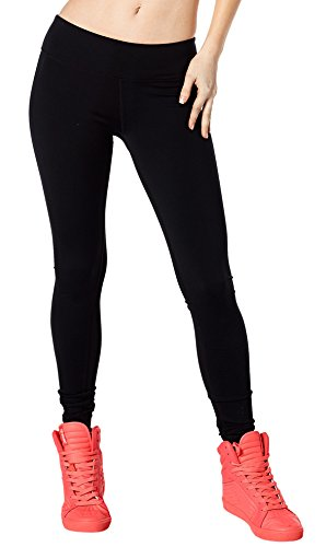 c1b9f20b7e5a68 Zumba Women's Basic Legging with Shape Retention and Tummy Control, Black,  X-Small