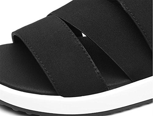 scarpe pelle sandali Black xiaojian amp; in uomo 1717 spiaggia 39 da A1naqx4R