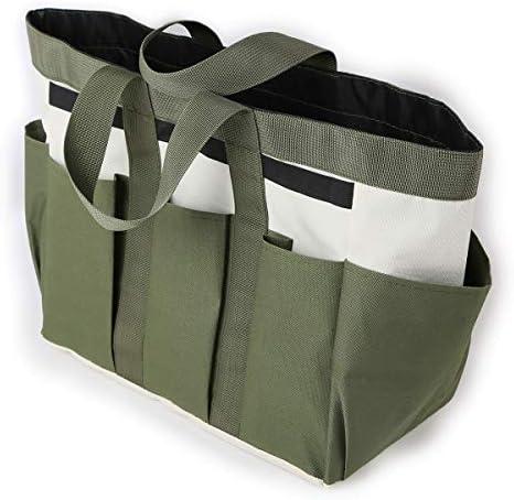 CAMPWAY(キャンプウィー) ガーデン 道具袋 24x13x39cm 工具 差し ツールバッグ (グリーン)