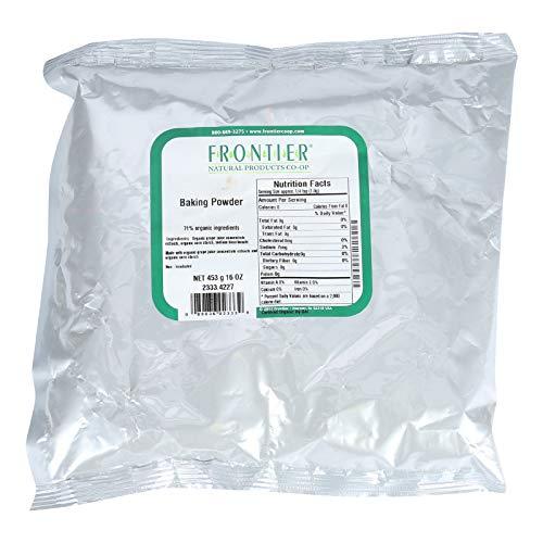 Frontier Herb Baking Powder, 71 Percent Certified Organic, Aluminum Free, Bulk, 1 Pound