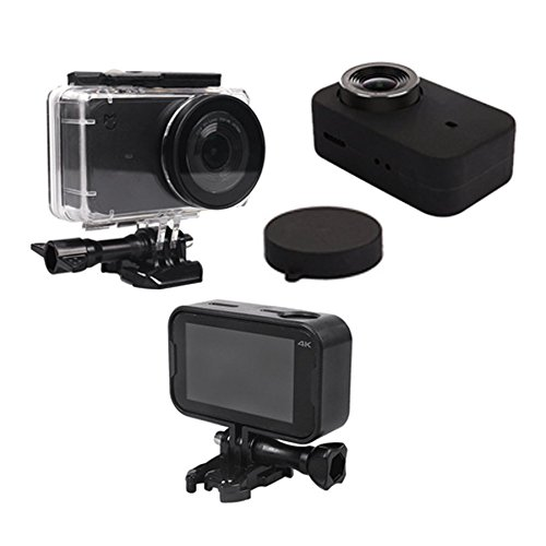 Xiomi Mijia 4K Waterproof Housing Case Box + Frame Shell Cover + Skin Case Cover + Lens Cap Protector for Xiaomi Mijia 4K Action Sport Camera Accessories Kit