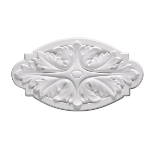 Focal Point 85415 Large Wisteria Rosette 8 13/16-Inch by 4 7/8-Inch by 3/4-Inch, Primed White