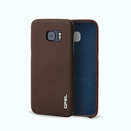 Galaxy S7 Edge Premium GPEL Handmade Leather Case Koskin with Soft Exterior Touch. It grips better, lasts longer and even improves with age and 100% Satisfaction Guarantee (Brown)