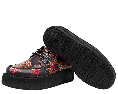 Rose Creeper Skull T Viva Black Red Print Shoes k amp; Women's u And High v11wYqfT