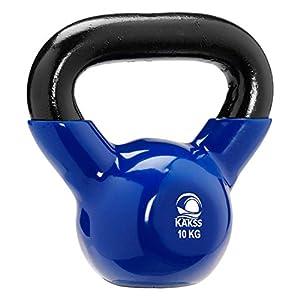 Kakss Vinyl Half Coating Kettle Bell for Gym & Workout (Size: (2KG, 4KG, 6KG, 8 KG, 10KG, 12KG, 14 KG, 16 KG, 18 KG, 20…