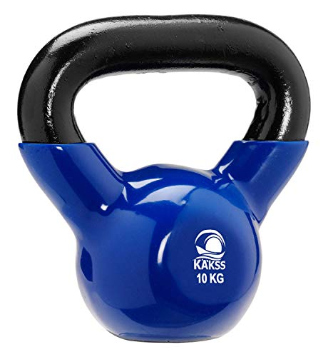 Kakss Vinyl Half Coating Kettle Bell for Gym & Workout (Size: (2KG, 4KG, 6KG, 8 KG, 10KG, 12KG, 14 KG, 16 KG, 18 KG, 20… 2021 June Material: Cast iron full solid vinyl coated Give your body the total toning and strengthening workout Ideal for: Gym, workout