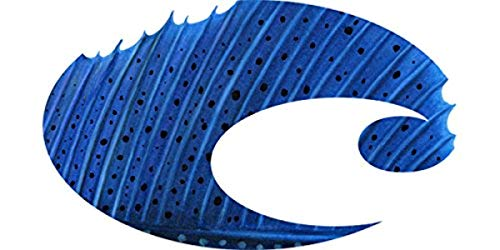 - Costa Del Mar Logo Sailfish Decal-Large Blue