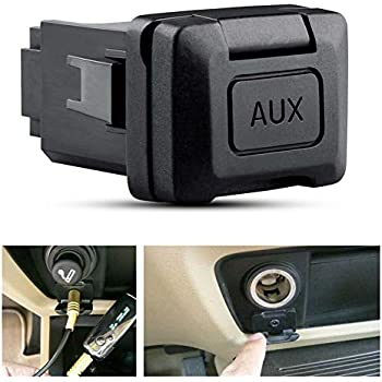 Auxiliary Input Jack Adapter Assembly Replacement 39112-SNA-A01 for 2006 2007 2008 2009 2010 2011 Honda Civic Audio Radio Stereo Aux Port Socket 57010 39112SNAA01 12 MONTHS WARRANTY