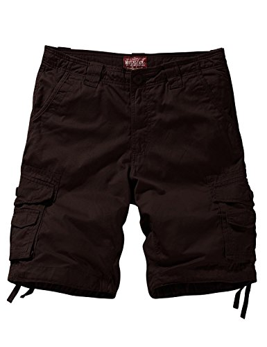 Match Men's Twill Comfort Cargo Short Without Belt #S3612 (Label size L/32 (US 30), Brown) -
