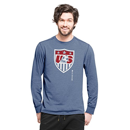 World Cup Soccer United States Men's '47 Cadence Long Sleeve Tee, X-Large, Shift Blue