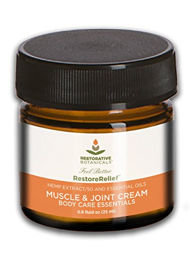 Restorative Botanicals 50 mg Hemp Oil Muscle & Joint Pain Relief Cream (25ml) Restore Relief