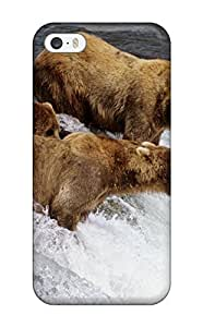 Pamela Sarich's Shop 1220104K99422215 Protection Case For Iphone 5/5s / Case Cover For Iphone(brown Bears Alaska)