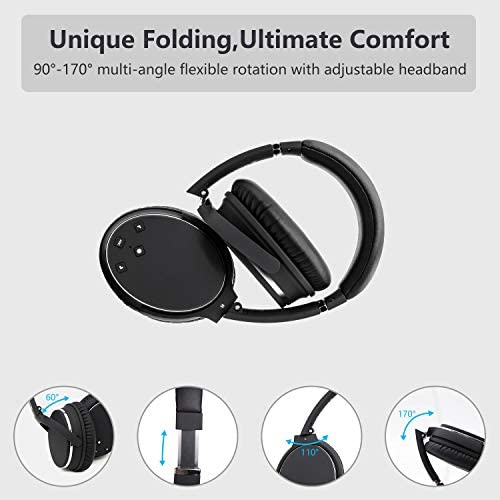 noise cancelling headphones real over ear wireless