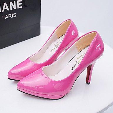 Talones de las mujeres Zapatos Primavera Verano Otoño Invierno club Comfort PU boda Charol oficina y carrera de vestir informal de estilete del talón Otros Fuchsia