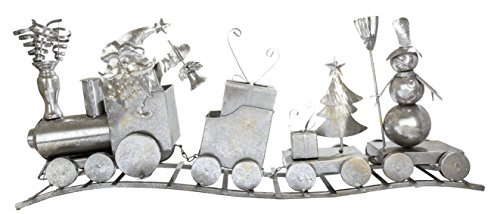 "DARICE Christmas Train Decoration, Metal, 33.5"""