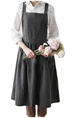 SportsX Adjustable Strap Kitchen Easy Care Dishwashing Women's Waitresses Work Shop Fashion Bib Apron Adult AS1