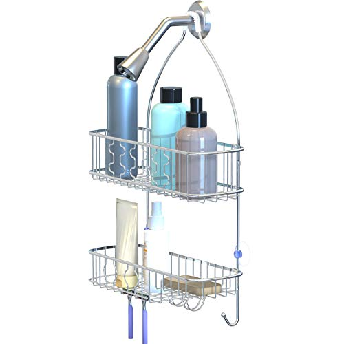 Simple Hanging Shower Caddy Chrome