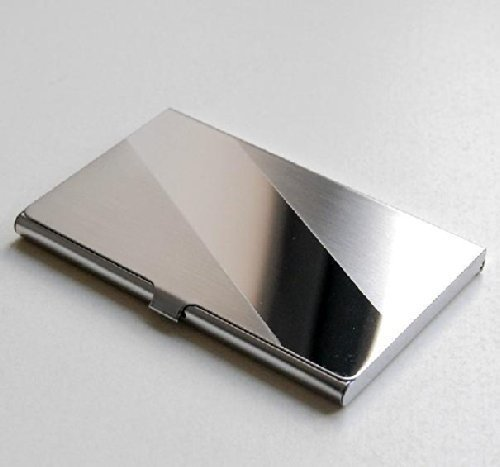 (J&J Fashion Stainless Steel Business Name Card Case Holder - Slope)