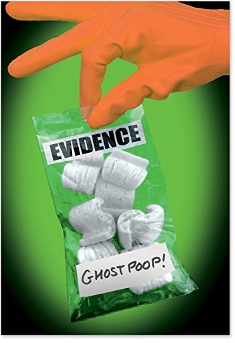 1202 'Ghost Poop' - Funny Halloween Greeting Card with 5