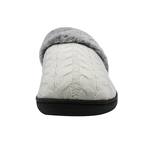 House Indoor Fur SANQIANWAN Memory White Womens Slippers Outdoor Foam qOwqIY1vxU