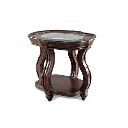 Isabelle Oval End Table Cherry - Magnussen Home