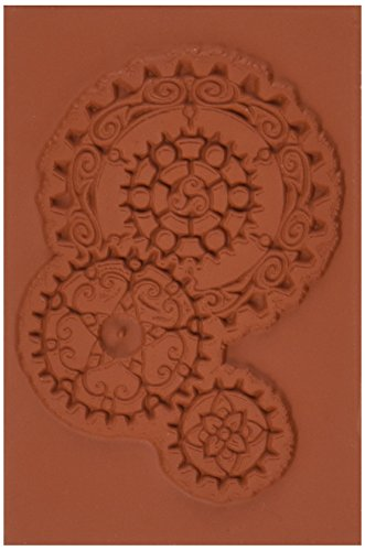 Deep Red Stamps Steampunk Gears Rubber Stamp