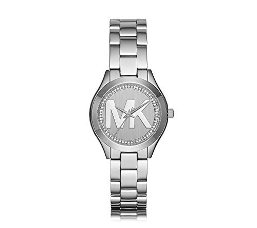 Michael Kors Mini Slim Runway Stainless Steel Three-Hand (Mini Ladies Jewelry Watch)