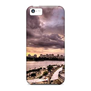 ZhiqiangYao OQE29704GYsy Cases For Iphone 5c With Nice Threating Sky Storm Brewing Appearance