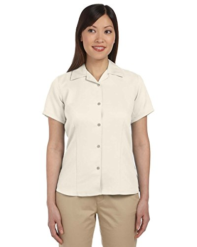 Harriton Ladies' Bahama Cord Camp Shirt, Creme, XL