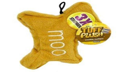 Aspen Pet Booda Tuff Plush Cookie Cutters Moo Small