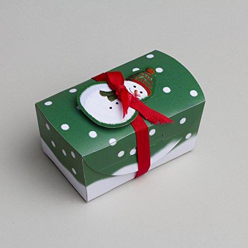 Ballotins à dragées - boites à chocolat Noël forme Charlotte grand modèle thème Bonhomme de neige Joyeuses Fêtes x6 noël mariage baptême communion anniversaire Y&D