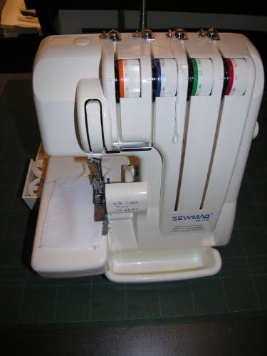 Máquina de coser Overlock Sewmaq SW1333, roll dobladillo ...