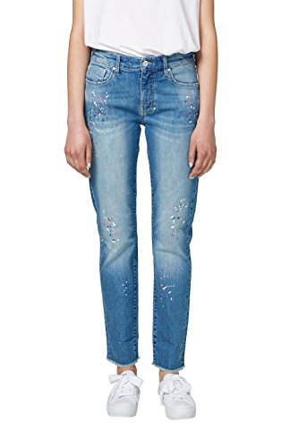 edc by Esprit Vaqueros Boyfriend para Mujer Azul (Blue Medium Wash 902)