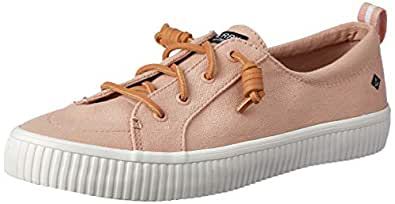 Sperry Crest Vibe Creeper Women's Linen Court Shoes, Rose, 6 US