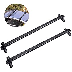 """ACUMSTE Universal 43"""" Inch Aluminum Car Top Luggage Roof Rack Cross Bar with Anti-theft Lock"""