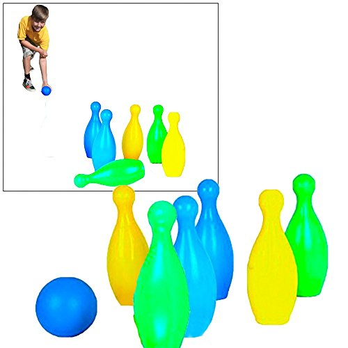 Toy Cubby Super Party Pins Plastic Bowling Kid Game Set