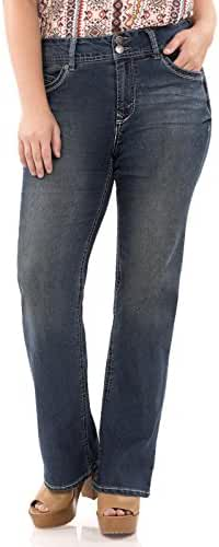 WallFlower Juniors Plus Size Luscious Curvy Bootcut Jeans
