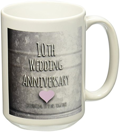 3dRose mug 154441 2 Anniversary Celebrating Anniversaries
