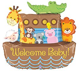 High Quality Amazon.com: NOAHu0027S ARK WELCOME BABY SHOWER Balloons Decorations Supplies  Duck By Anagram: Toys U0026 Games