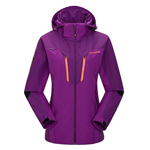 [Timeiya Women's Outerwear Mountain Windproof Jacket Hooded Hiking Sportswear] (Best Figure Skating Costumes)
