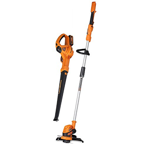 LawnMaster 24V Max Lithium Ion Grass Trimmer and Blower Combo Kit by LawnMaster