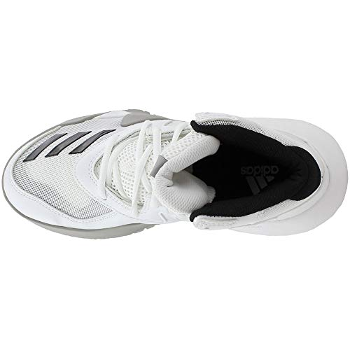 online store f9744 66892 adidas Crazy Team 2017 Shoe Mens Basketball 9.5 White-Core Black-Solid Grey