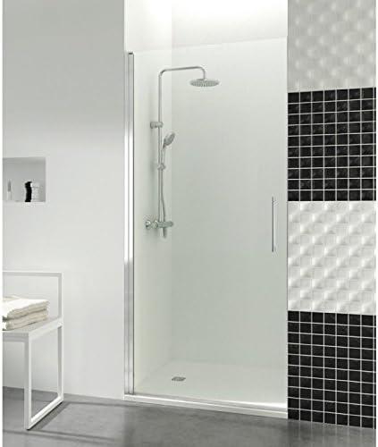 Mampara de ducha con puerta battante Helia a par degeo | vidrio templado de 6 mm – altura de pared 195 cm | diseño contemporáneo: Amazon.es: Bricolaje y herramientas