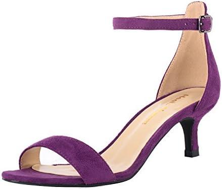 Women S Heeled Sandals Ankle Strap High Heels 5cm Open Toe Low